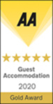 AA Gold 5 Star Guest Accommodation Award